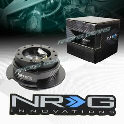 Black/carbon Ring 6-hole Nrg Steering Wheel Gen 2.5 Quick Release Adapter Kit