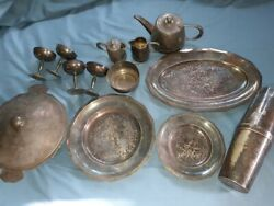 Very Rare Miami Cruise Line Hotel Silverplate Serving Set Look
