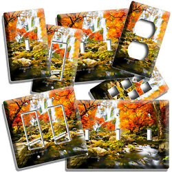 Colorful Fall Waterfall Nature Wonder Light Switch Outlet Wall Plates Room Decor