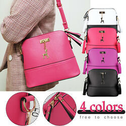 Women Ladies Leather Handbag Shoulder Bag Crossbody Tote Messenger Satchel Purse $10.98
