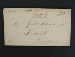 New York Remsen 1825 Stampless Cover, Fancy Ms, Oneida Co To Lowville, Ny