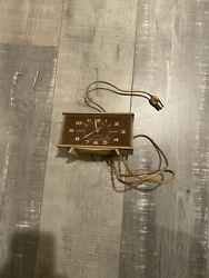 Vintage General Electric Model 7H254 Mid Century Modern Alarm Clock Made IN USA