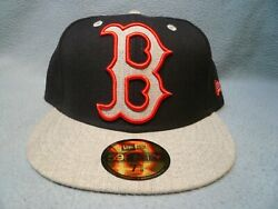 New Era 59fifty Boston Red Sox Heather Xl Logo Brand New Fitted Cap Hat Mlb