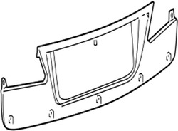 76801-53030-d0 Toyota Garnish Sub-assy Luggage Compartment Door Outside 768015