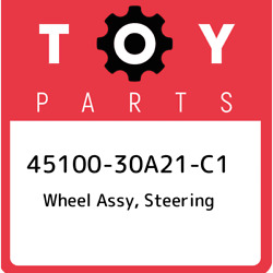 45100-30a21-c1 Toyota Wheel Assy, Steering 4510030a21c1, New Genuine Oem Part