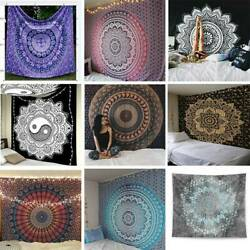 Indian Mandala Tapestry Totem Bohemian Wall Hanging Queen Bedspread Throw Perfec