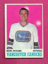1970-71 Opc  119 Vancouver Canucks Marc Reaume Ex+ Card Inv C8939