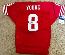 Steve Young Auto Signed Nfl Jersey San Francisco 49ers -size 46