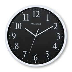 12 Inch Wall ClockSilent Non Ticking Quartz Battery Operated Round Easy to Read