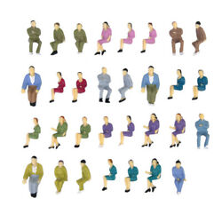 Lot Of 50pcs Painted Model Train Seated Figures People Passengers O Scale 150
