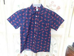 Cute Lobster Button Down Cotton Short Sleeve Top Size M NWT  $8.95