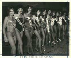 1981 Press Photo Susan Wagner High School Student Beauty Show contestants