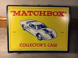 Lot Vintage C. 1966-1970's Matchbox Cars With Carrying Case And Catalogs