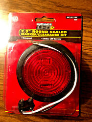 Optronics Led Trailer Lights 2.5 Round Sealed Marker/clearance Kit Mcl527rk