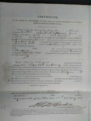 New Hampshire Civil War 1862 Henry Haines 5th Nh Discharge Paper