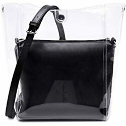 Lam Gallery Transparent PVC Bucket Bags For Women Fashion Clear Purses Tote Hobo $42.95