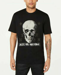 Sean John Men's Black TRI SKULLER ALL OR NOTHING Tee Shirt XL $49.99