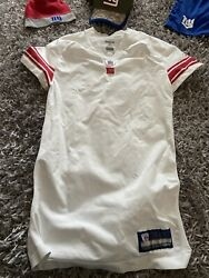 Authentic Reebok Nfl New York Giants Blank Game Jersey Shoes Shorts Hat Lot