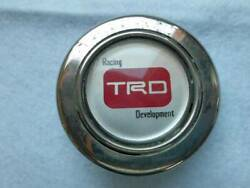 Trd Steering Wheel Horn Button Old Car Out Of Print Used Jdm From Japan F/s