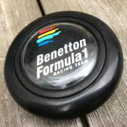 Benetton Steering Wheel Horn Button Old Car Super Rare Used Jdm From Japan F/s