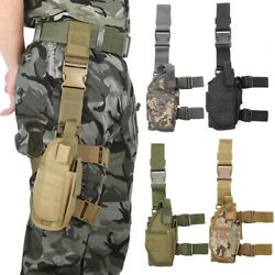 Adjustable Tactical PistolGun Drop Leg Thigh Holster Mag Pouch Right  Hand US $14.98