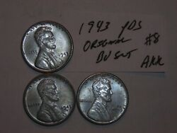 Wheat Penny 1943,1943-d,1943-s Nice Bu Lincoln Steel Cent 1943s,1943d Unc Set 8