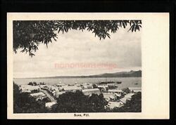 Fiji Suva General View Morris Hedstrom And Co. Levuka Postcard E20c - Fi29