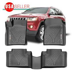 Floor Mats For 2016-2021 Dodge Durango/grand Cherokee 1st And 2nd Row All Weather