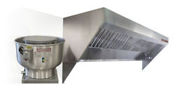 Food Truck Low Profile Exhaust Hood System 7and039 Hood Fan And Duct