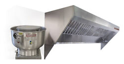 Food Truck Low Profile Exhaust Hood System 8and039 Hood Fan And Duct