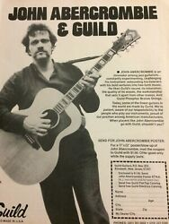 John Abercrombie, Guild Guitars, Full Page Vintage Promotional Ad