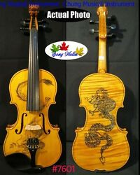 Song Brand Hand Made Drawing 5 Strings 4/4 Violin For Concert,great Sound 7601