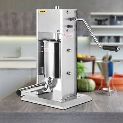 15l Vertical Commercial Sausage Stuffer Two Speed 304 Stainless Steel Meat Press