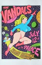Coop The Vandals Silkscreen Rock Concert Poster Signed Numbered Limited Edition