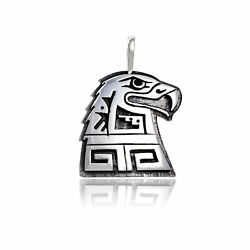 800tag Eagle .925 Sterling Silver Certified Hopi Native American Pendant 15919