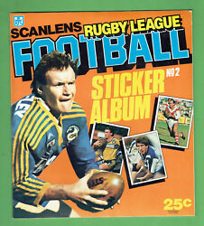 Dd8. Set 1984 Scanlens Rugby League Unmounted Stickers And Album