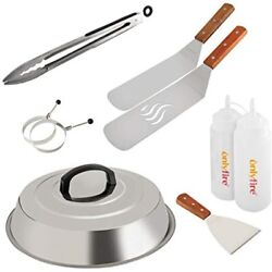 Onlyfire Professional Bbq Griddle Tool Kit Great For Grill Flat Top Cooking With