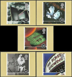 Gb 1996 Centenary Of Cinema Stamp Phq Maxi Cards First Day Of Issue On Reverse