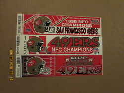 Nfl San Francisco 49ers Vintage 1988 1989 And 1994 Nfc Champions Bumper Stickers