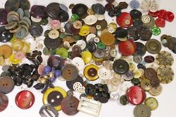 Vintage Lot Of 1.5 Lbs Antique Buttons - Mid Century