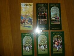 6 Keeneland Horse Racing Programs - All Stakes 1989 90 91 All Mint Horses O T Y