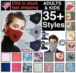 Cotton Face Mask  With  2 Filters Washable Reusable Activated Carbon respirator $7.99