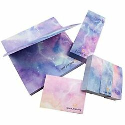 Sticky Notes, Starry Paper 4 Sizes 80 Sheets/pad, Environmentally Friendly And