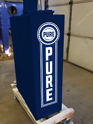 10 X 2.6 Pure Oil Company Gas Oil Vinyl Decal Lubester Sides Oil Pump Lubster