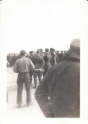 6 Vtg Photos Wwii Seabees Navy Commander Visit North Africa 17th-120th Battalion