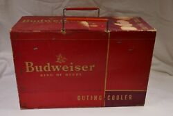 Vintage Unrestored And Rare 1940's Or 50's Budweiser Cooler - Outing Cooler
