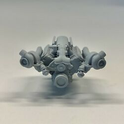 Resin Chevy Ls Twin Turbo Motor Engine Swap For Model Kits 1/24 1/25