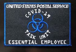 Patch Iron On USPS Essential Employee Postal Service Mailman $5.00