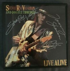 Stevie Ray Vaughan Double Trouble Autographed Signed Album And Srv Strat Guitar