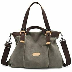 Women Hobo Handbags Canvas Casual Vintage Shoulder Daily Purse Ladies Top Handle $62.95
